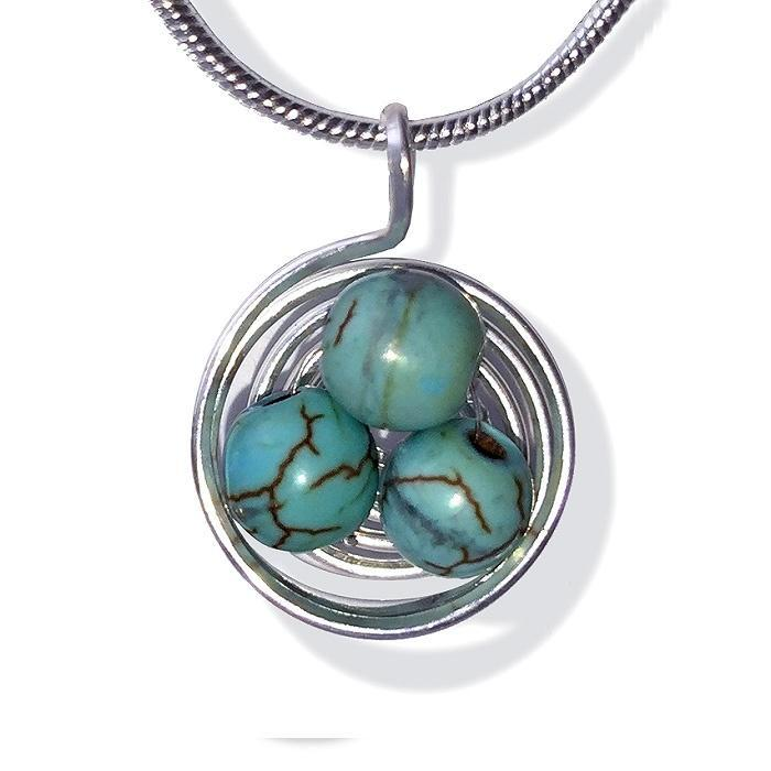 Nest Necklace-Turquoise
