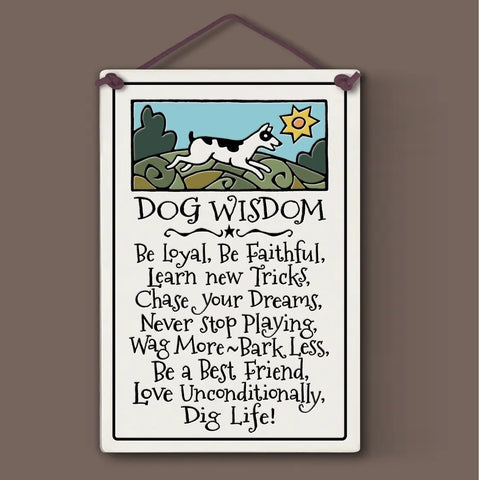 Dog Wisdom Wall Plaque