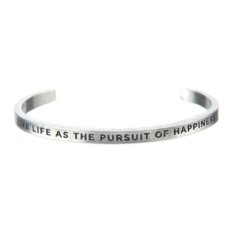 Cuff Bracelet-Pursuit of Happiness