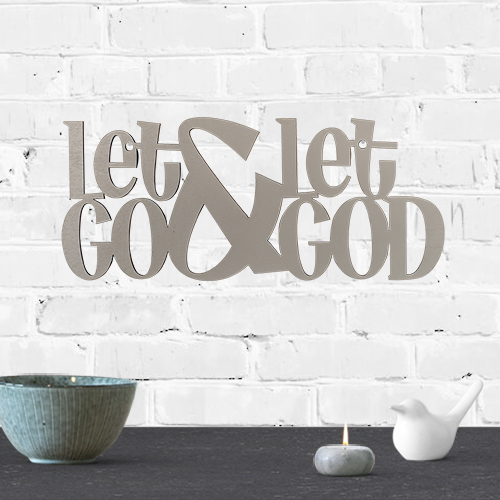 Let Go & Let God-Wall Art