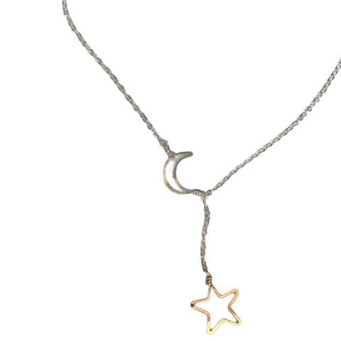 Sliding Moon & Star Necklace