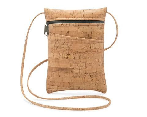 Mini Crossbody Cork Purse-Black