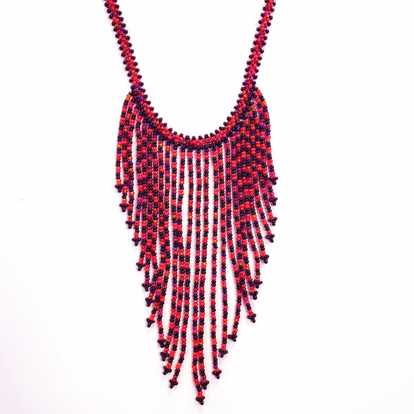 Triangle Fall Beaded Necklace