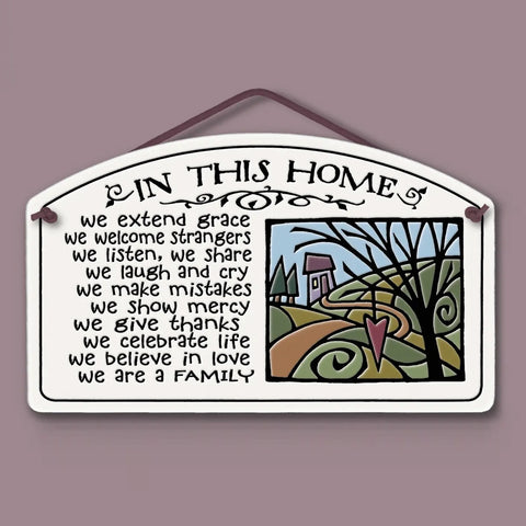 In This Home Wall Plaque