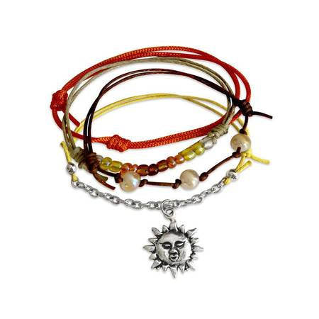 Charm Bracelet Set-Sunshine