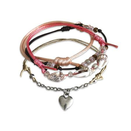 Charm Bracelet Set-Seaside Heart