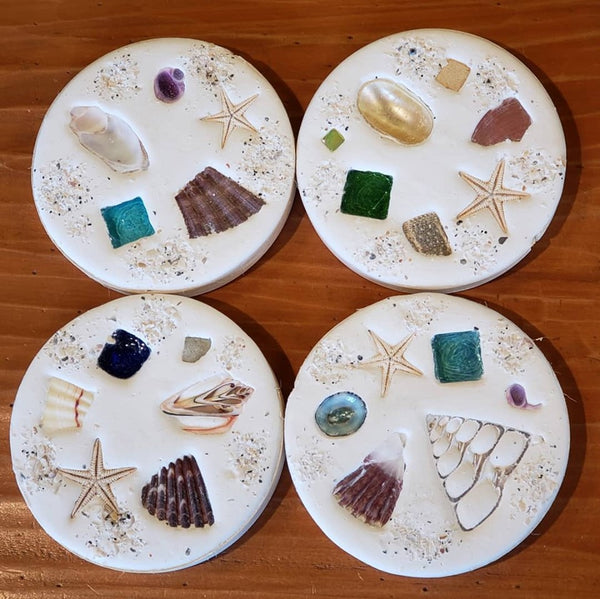 Seashell Coasters-Set of 4