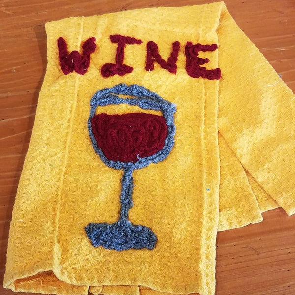 Kitchen Towel-Wine Glass
