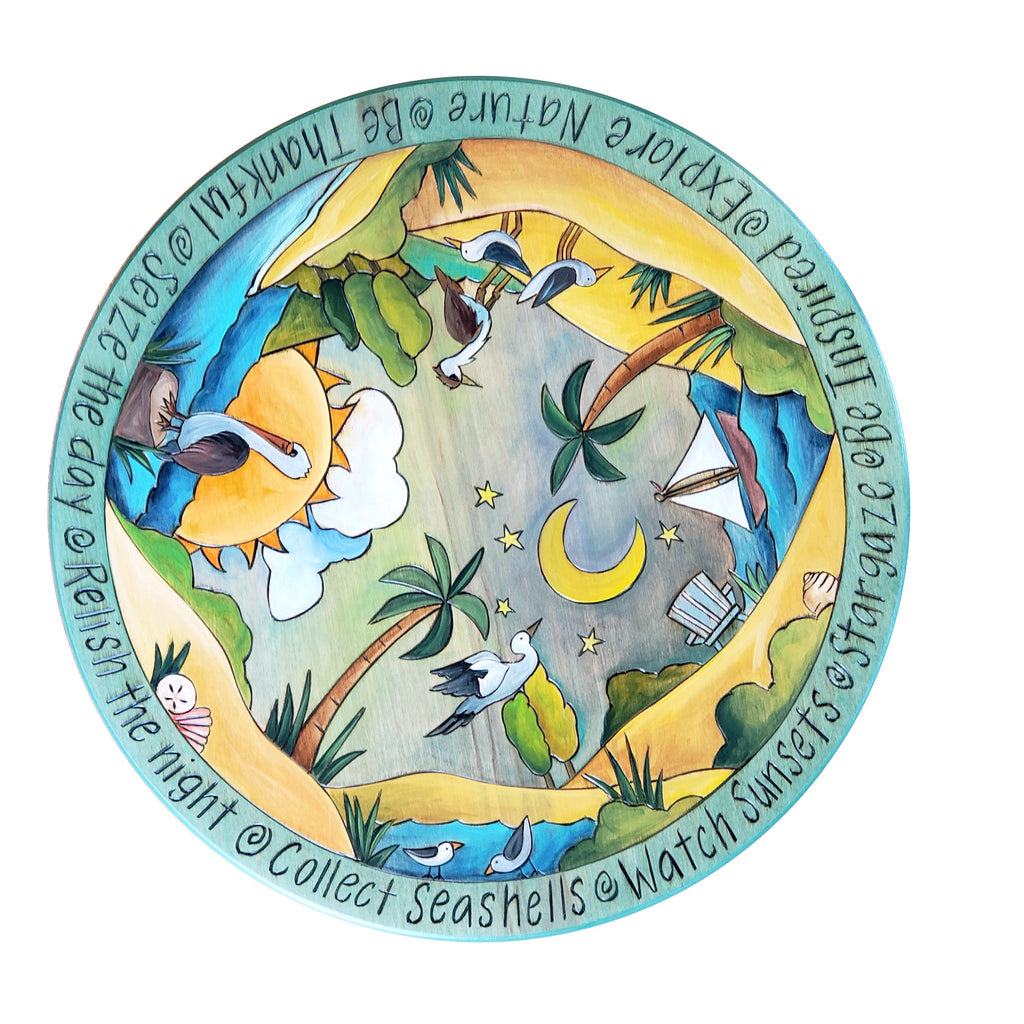 "Lazy Susan 16""-Beach Birds"