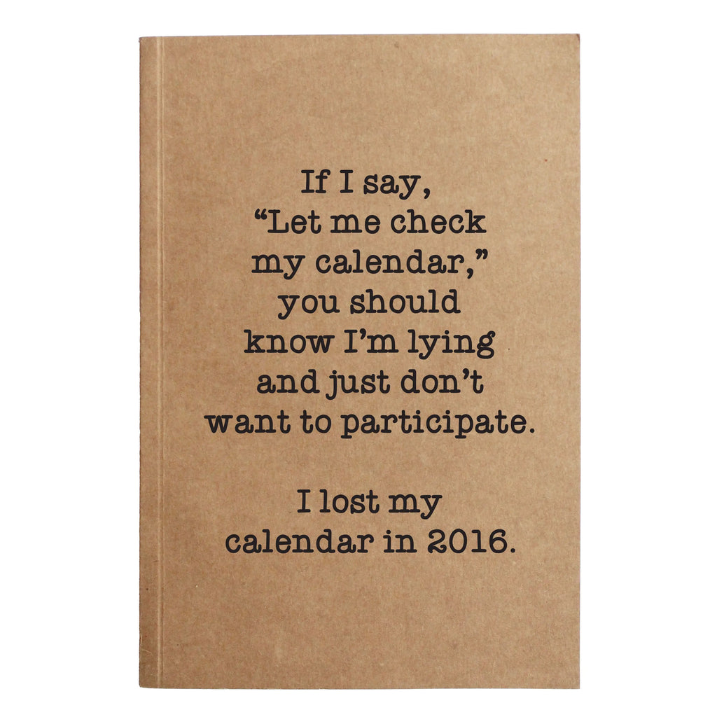 Check My Calendar Notebook