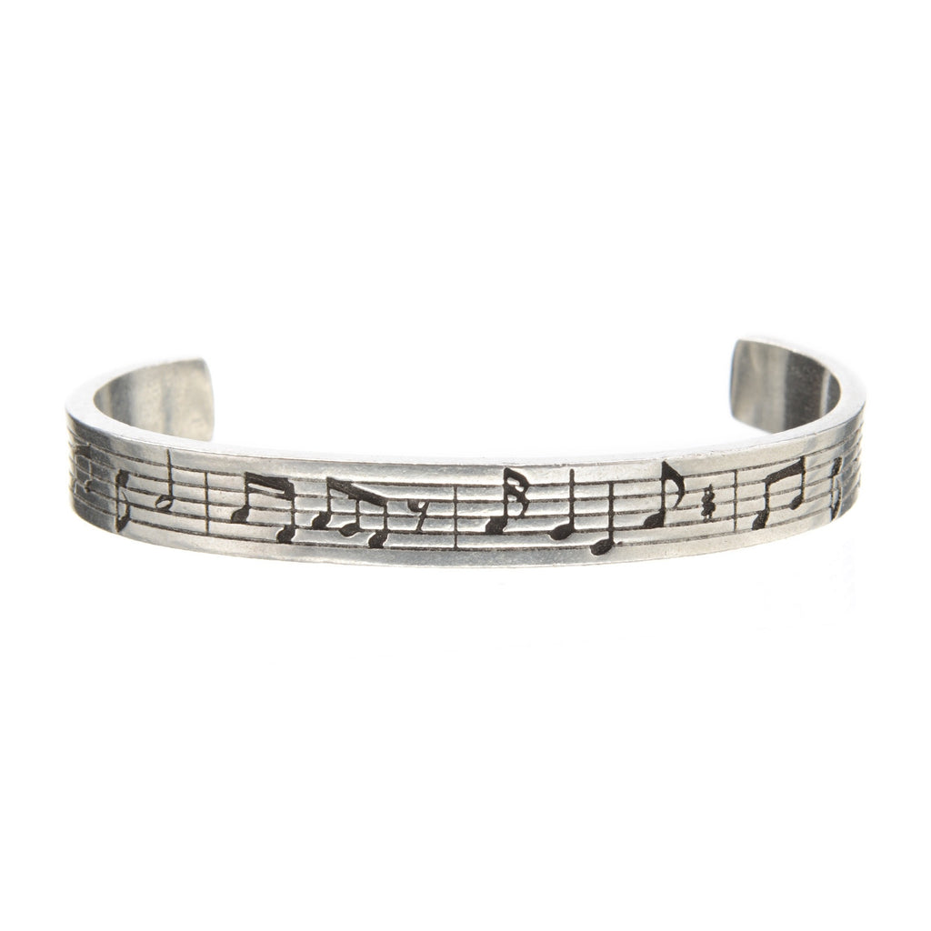 musical notes pewter cuff bracelet by whitney howard