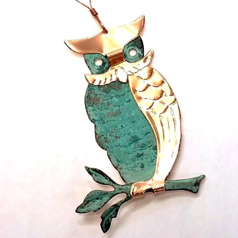 Copper Ornament-Owl