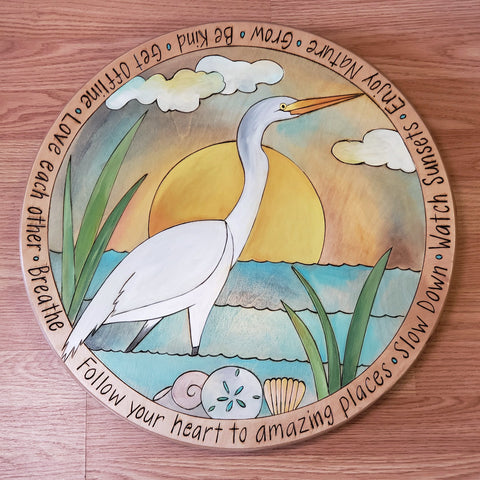 "Sticks Lazy Susan 20""-Heron"