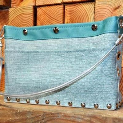 Journey Crossbody Purse-Oxford & Teal