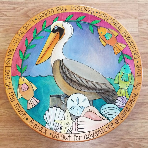 "Sticks Lazy Susan 20""-Pelican"