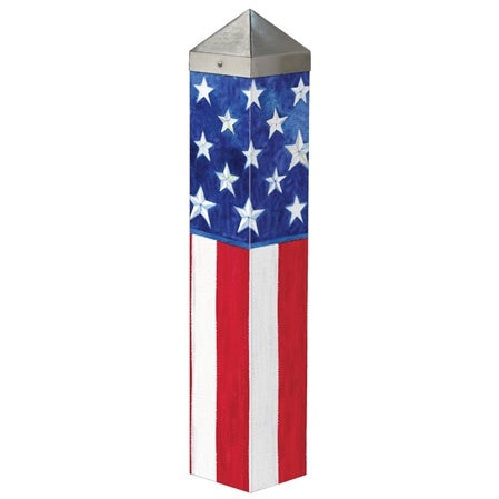 American Flag Garden Art Pole