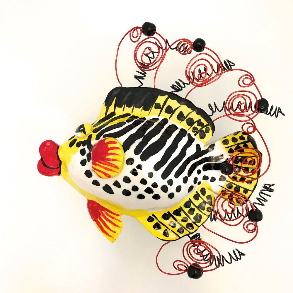 Fish Wall Sculpture - Lined Sweetlips