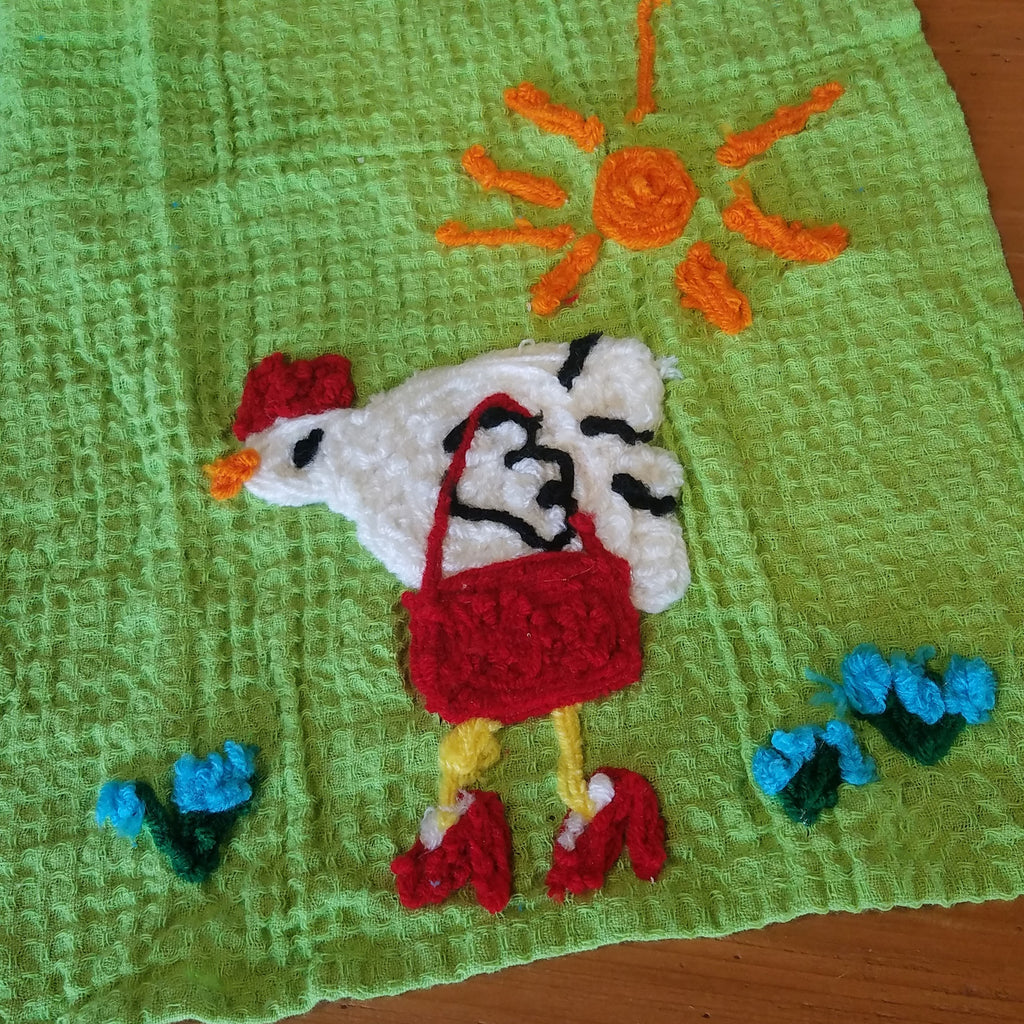 Kitchen Towel-Crazy Chicken Lady