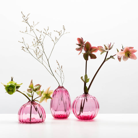Little Buddies Glass Vases-Ruby