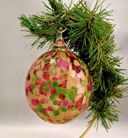 Blown Glass Ornament-Holly & Ivy