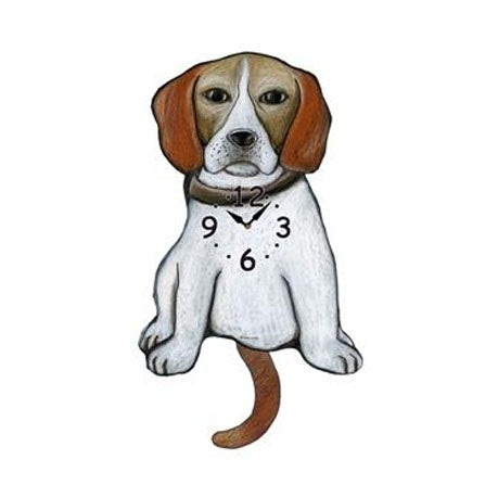 Tail Wagging Clock-Beagle, Light