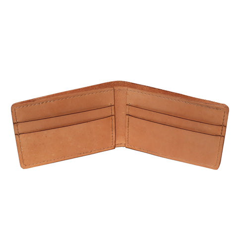 Leather Bifold Wallet - Natural