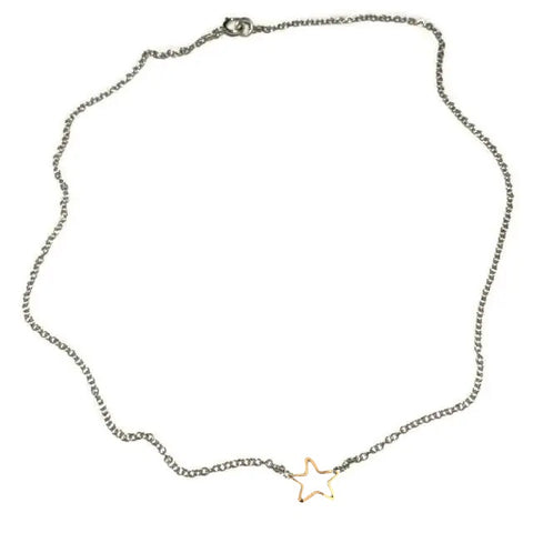 Tiny Star Necklace-Silver/Gold