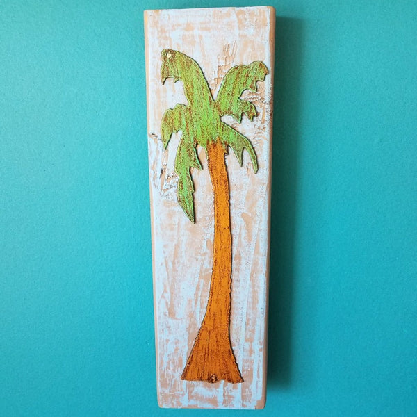 Large Art Block-Palm Tree