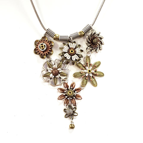 Industrial Flowers Necklace