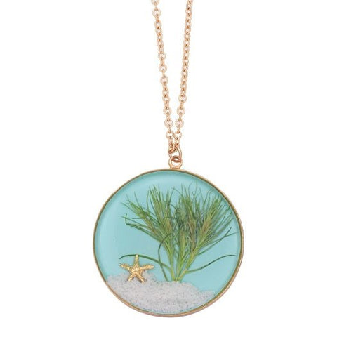 Sand Dune Necklace-Gold, Large Round