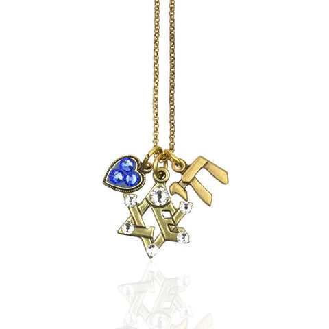 Star of David Jumble Necklace