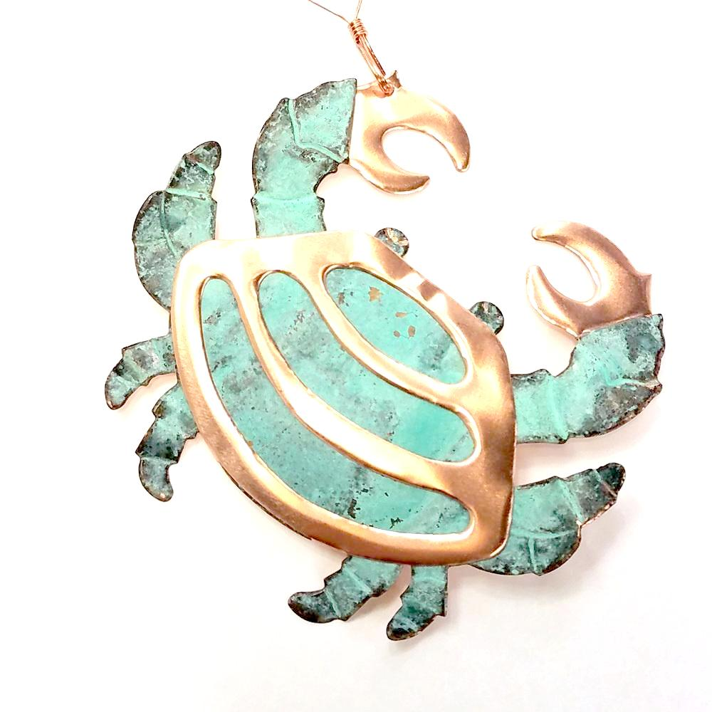Copper Ornament-Crab