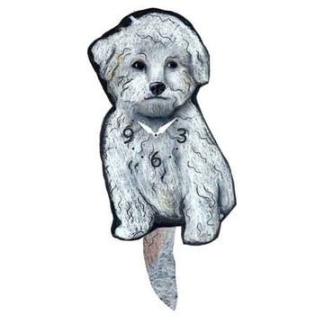 Bichon Tail Wagging Clock
