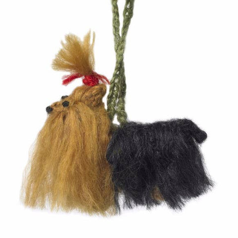 Hand Knit Dog Ornament-Yorkie