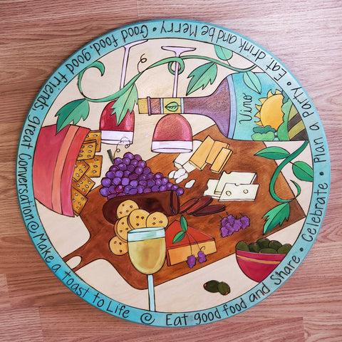 "Lazy Susan 20""-Eat Good Food Charcuterie"