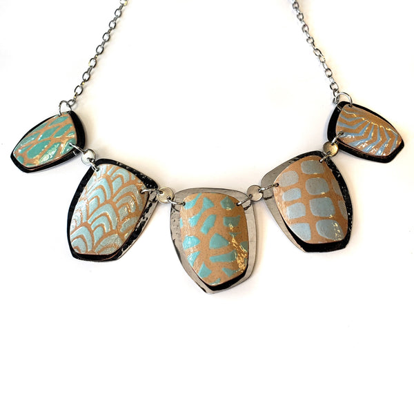 Kaleidoscope 5 Necklace-Ocean