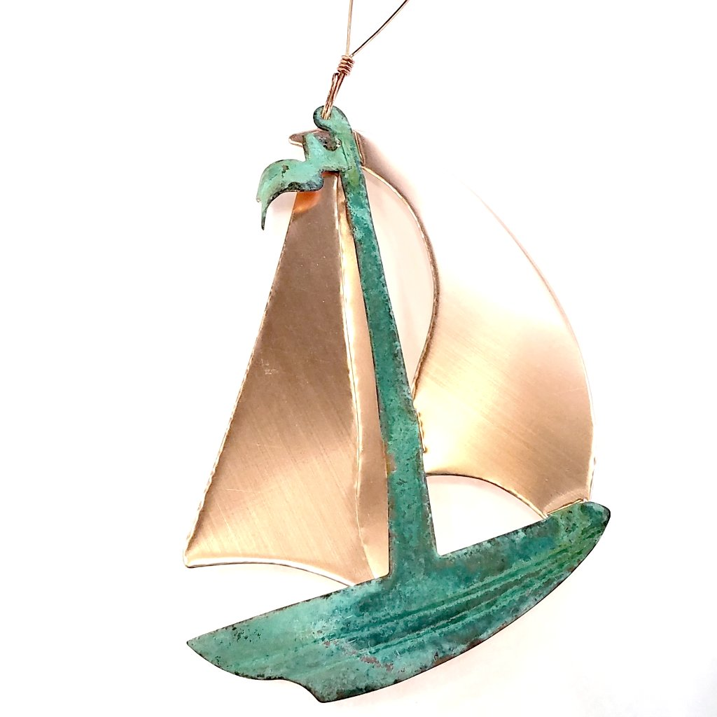 Copper Ornament-Sailboat