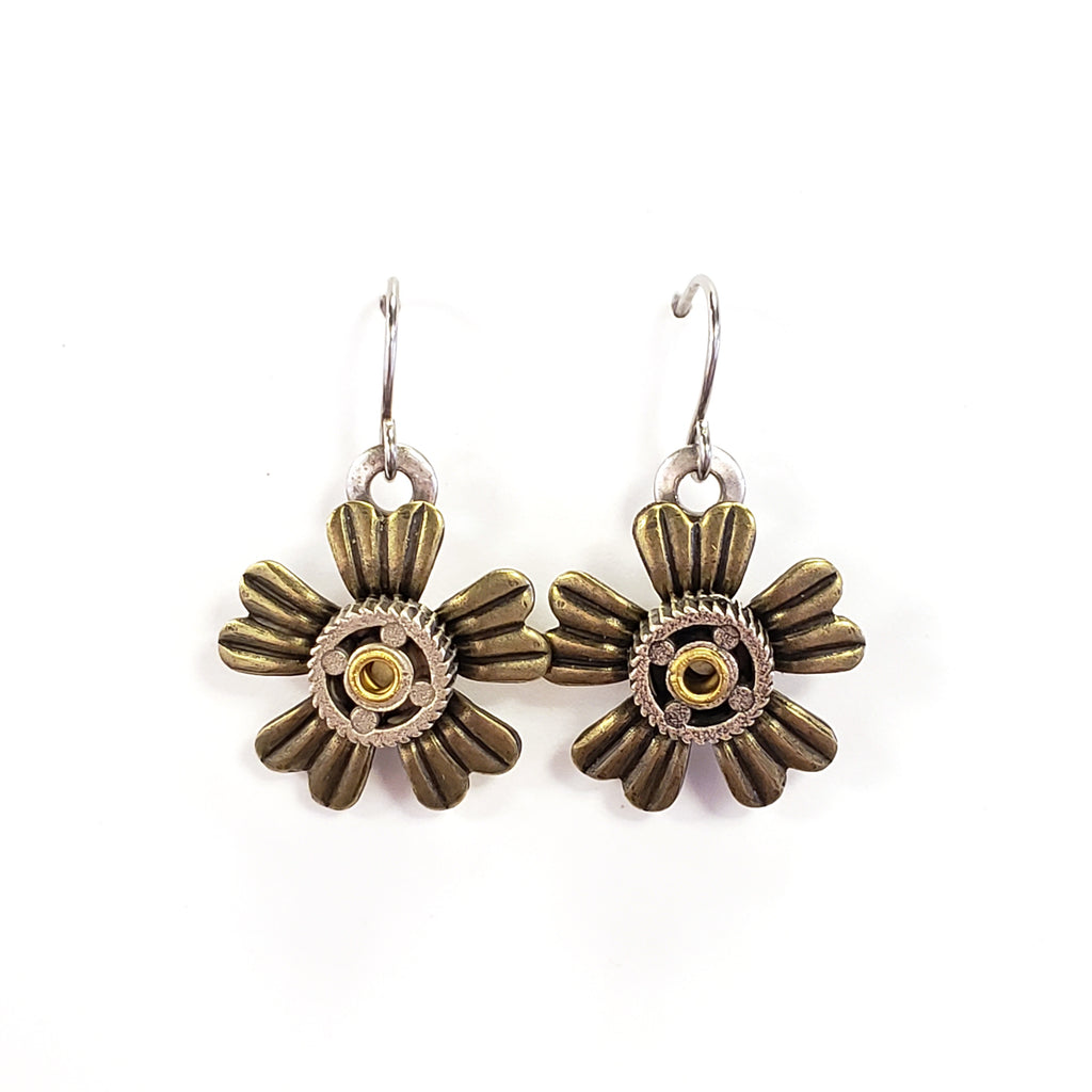 Industrial Flower Earrings