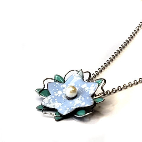 Blossom Necklace-Teal & Blue