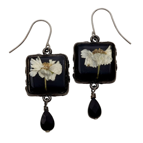 Achillea Earrings-Square Drop