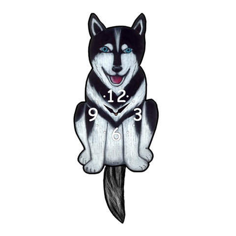 Tail Wagging Clock-Husky