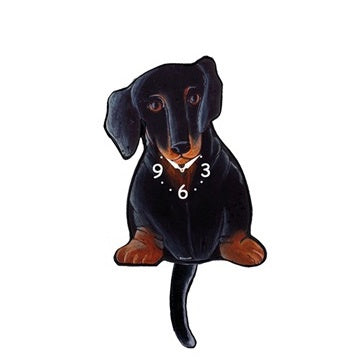 Tail Wagging Clock-Dachshund B&T