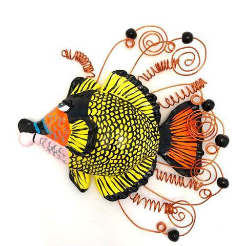 Fish Wall Sculpture - Titan Triggerfish