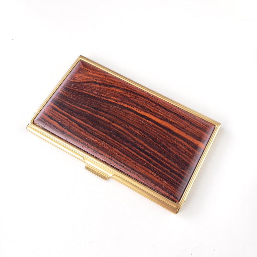 Business Card Case-Cocobolo