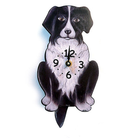 Tail Wagging Clock-Border Collie