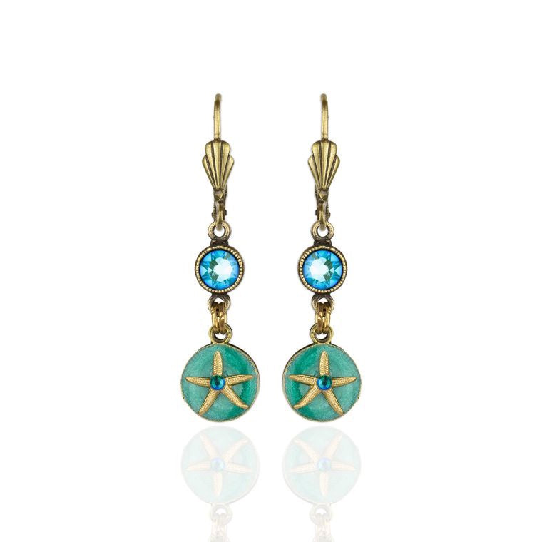Starfish Disc Earrings