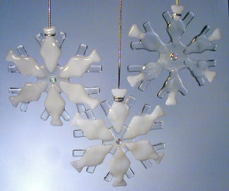 Snowflake Ornament-White