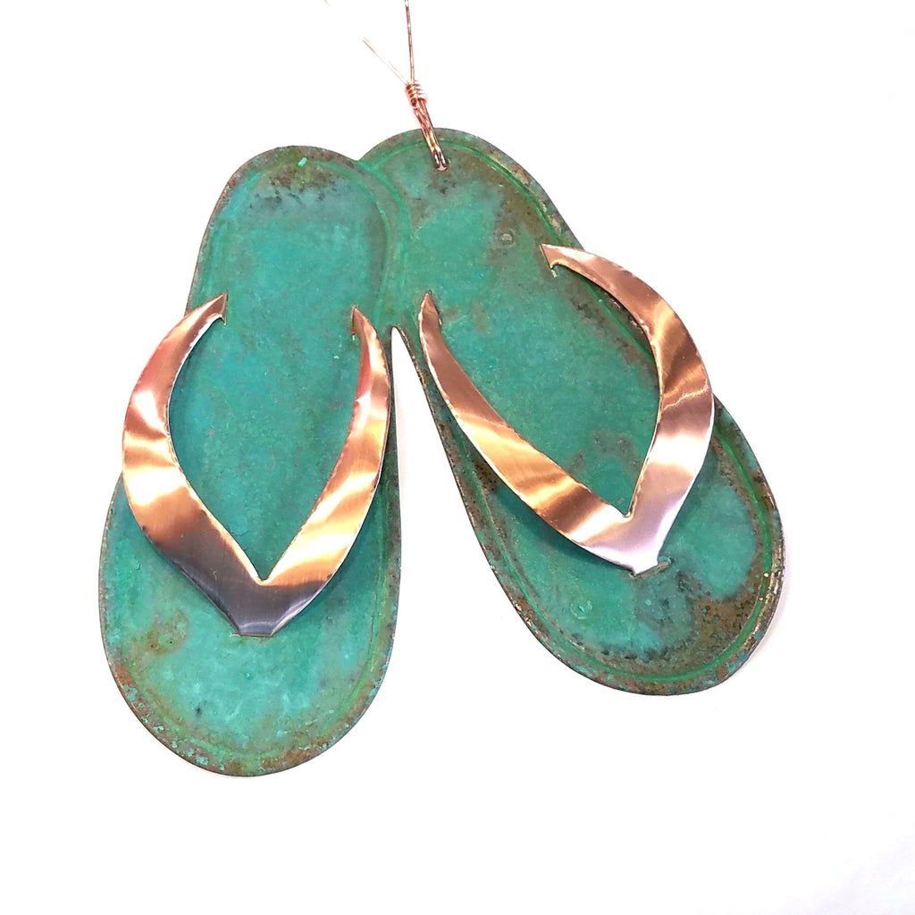 Copper Ornament-Flip Flops