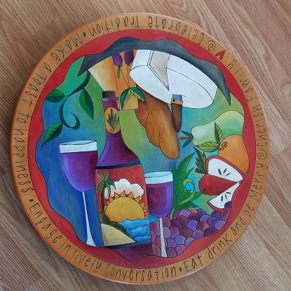 "Sticks Lazy Susan 20""-Food & Wine"