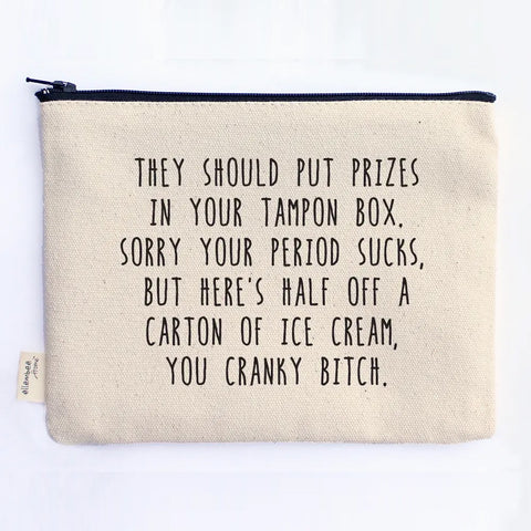 Prizes in Your Tampon Box Zipper Pouch